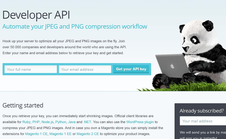 TinyPNG API key取得
